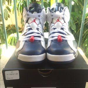 """Nike Air Jordan 6 Retro """"Olympic"""" size 8.5"""